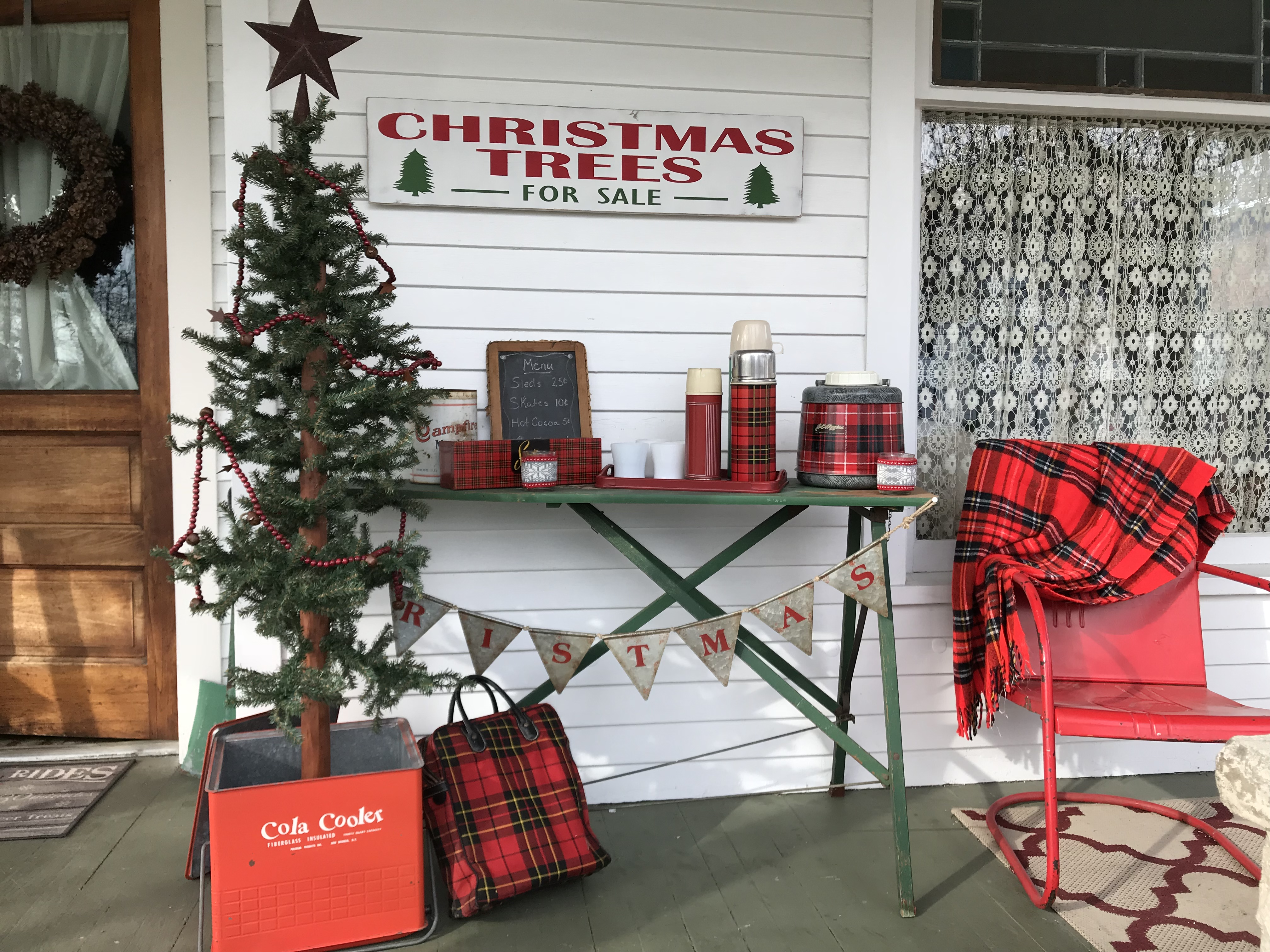 Vintage Christmas front porch